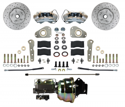 Front Disc Brake Conversion Kits - Power Front Kits - LEED Brakes - Power Front Disc Brake Conversion Ford Full Size Y Block 4 Piston | MaxGrip XDS