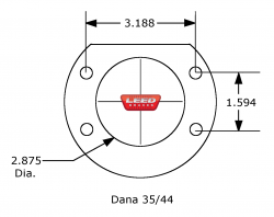 Jeep Axle Flange Diagram Dana 35 Dana 44