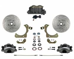 Manual Front Kits - Manual Front Kit - Stock Ride Height - LEED Brakes - Manual Front Disc Brake Conversion Kit with Adjustable Proportioning Valve | MaxGrip XDS