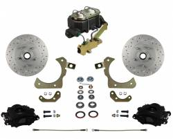 Impala Front Disc Brake Kit - Black Calipers - LEED Brakes