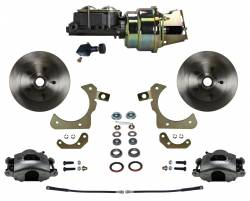 Power Front Kit - Stock Ride Height - _Standard Kit - LEED Brakes - Power Front Disc Brake Conversion Kit with Adjustable Proportioning Valve