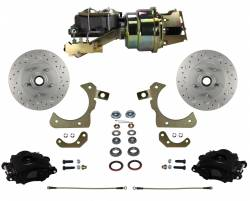 LEED Brakes - Power Front Disc Brake Conversion Kit with Disc Disc Valve | MaxGrip XDS | Black Calipers