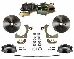 Power Front Kit - Stock Ride Height - _Standard Kit - LEED Brakes - Power Front Disc Brake Conversion Kit with Disc Disc Valve