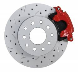 LEED Brakes - Rear Disc Brake Conversion Kit - GM 10 Bolt Axles with 3 Bolt Flange - Red Calipers and MaxGrip XDS - Image 2