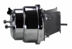 Power Brake Booster Kits - Power Booster Only - LEED Brakes - Compact-10 Series 7 inch Dual power booster Chrome