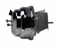 Power Brake Booster Kits - Power Booster Only - LEED Brakes - Compact-10 Series 8 inch Dual power booster Chrome