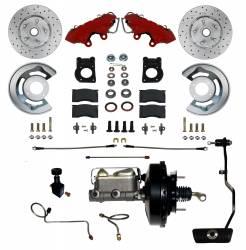 LEED Brake Power Brakes Crossed Drilled Rotors