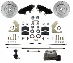 Manual Front Kit with Drilled Rotors and Black Powder Coated Calipers