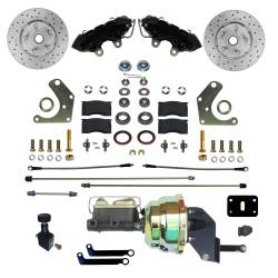 Power Front Kit with Drilled Rotors and Black Powder Coated Calipers - Image 1