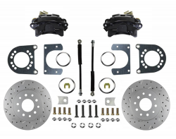 Rear Disc Brake Conversion Kit - GM Full Size - Black Caliper and MaxGrip XDS