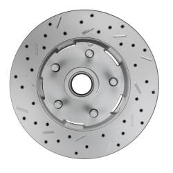 LEED Brakes - 1964-66 Mustang Power Front Kit with Drilled Rotors and Red Powder Coated Calipers for Factory Manual Transmission Cars - Image 4