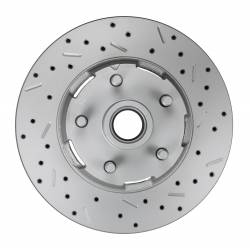 LEED Brakes - 1964-66 Mustang Power Front Kit with Drilled Rotors and Red Powder Coated Calipers for Factory Manual Transmission Cars - Image 5