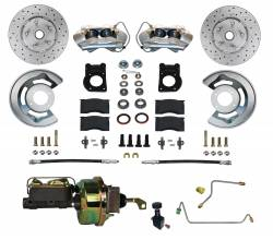 LEED Brakes - Power Disc Brake Conversion 64.5-66 Ford Manual Trans | 4 Piston Calipers MaxGrip XDS Rotors
